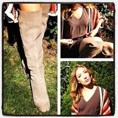 Okay! Number 3 of my 11 pair shoe escapade at @jomarstore from last month! BOOTS BABY! Finally with October here, it's boot season! Same rules apply ladies… Heavy is Luxury!… That is exactly how I scored these ALL SUEDE, Multi-Zippered, knee high wedge boots by DV by Dolce Vita for $35! FELT, FELT, FEEL IN LOVE! Their gorgeous thick suede said it all and they were mine! They retail $179. Man that was a good day, as I Shopped for What Popped, and went in to get Polished for Pennies! & BOY did…