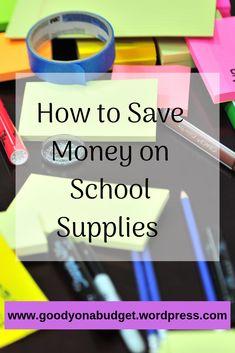 saving money on school supplies. #school #college