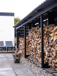 You want to build a outdoor firewood rack? Here is a some firewood storage and creative firewood rack ideas for outdoors. Lots of great building tutorials and DIY-friendly inspirations! Outdoor Firewood Rack, Firewood Shed, Firewood Storage, Outdoor Storage, Wood Store, String Lights Outdoor, Building A Shed, Building Ideas, Shed Plans