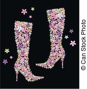 Diamond Stiletto Shoes Clip Art | Boot illustrations and clipart