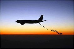 Santa got a refuel over the Atlantic courtesy of the US Air Force of course!  He's on his way to Vegas very soon!