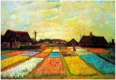 Vincent Van Gogh Holland Flower Bed Art Print Poster Print at AllPosters.com