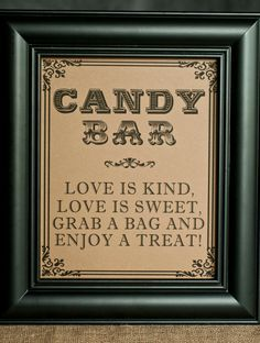 wedding candy bar snack bags - Google Search