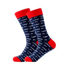 Starting on the poll, you will not need any other socks to complete your outfit and become #1. Featuring racing cars and flags on a navy blue background with red trim, you will love these socks. Made with 80% Cotton, 17% Nylon, and 3% Spandex, these Unisex socks are perfect for US Size 7.5-12.5 feet. Blue Socks, Navy Blue Background, Crazy Socks, F1 Racing, Flags, Race Cars, Unisex, Gender, Outfit