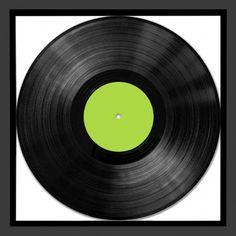 Black Personalised Record Album Frame