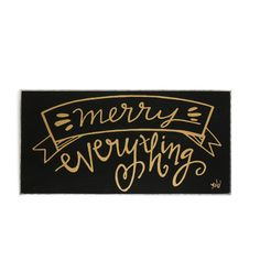 $7 Decorative Holiday Box Sign - Merry Everything