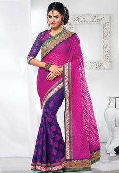 Desginer Saree !Purple And Cream Golli #Tissue And #Cotton #Jacquard Saree designed with Zari,Resham Embroidery with St one work and patch patta Work. As shown Purple #Dhupion Blouse fabric is available which can be customized as per requirements  With exciting Flat 30% discount! INR :-5490