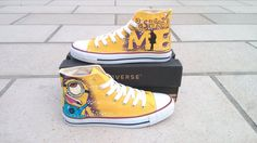 Custom Hand Painted Shoes,Despicable Me Shoes,Custom Converse Shoes