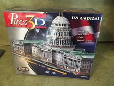 Puzz3D U.S Capitol Puzz 3D New Sealed Hasbro MB Puzzle President White House #Hasbro