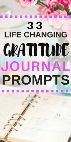 Gratitude journal writing prompts to help when you're depressed or having a bad day #positivevibes #positivity #gratitude #journalprompts #journal #journaling #mentalhealth #depression