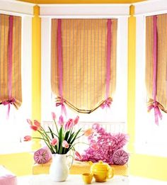 Roman Shades - for bath.  Change to white with dark gray trim, maybe embroider an H in the middle?