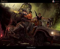 Concept art from Primal Carnage. Primal Carnage, Dinosaur Games, The Lost World, Jurassic Park World, Prehistoric Animals, Pop Culture, Concept Art, Horror, Sci Fi
