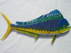 Mahi Mahi  Dolphin Fish  Bottle Cap Fish Man Cave by EricsEasel