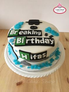 [Pro/Chef] Breaking bad themed birthday cake that we made. Breaking Bad Birthday, Breaking Bad Cake, Breaking Bad Party, Themed Birthday Cakes, Themed Cakes, Birthday Post Instagram, Birthday Posts, Cake Shop, Cata