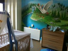 Painted wall of my son's room...