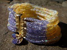 Ethiopian Opal Bracelet,Yellow Opal Bracelet,Welo Opal and Tanzanite Bracelet,Opal Bracelet,Multi Strand Opal Gemstone Cuff Bracelet Tanzanite Bracelet, Tanzanite Jewelry, Tanzanite Gemstone, Opal Necklace, Gemstone Jewelry, Beaded Jewelry, Gemstones, Diy Jewelry, Jewelry Bracelets
