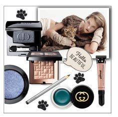 """""""Hello beautiful"""" by frenchfriesblackmg ❤ liked on Polyvore featuring beauty, MAC Cosmetics, Christian Dior, Bobbi Brown Cosmetics, Gucci and Laura Mercier"""