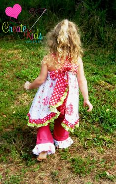 Sophia's Open Back Ruffle Dress Creat Kids Couture pattern ~ You Can Make This.com