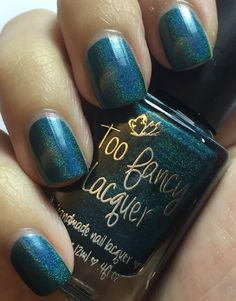 Can You Hear The People Sing - medium teal linear holo (Fundraising Polish for HK Umbrella Movement)