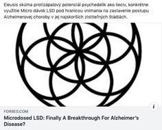 Biotechnology startup Eleusis is exploring sub-perceptual levels of LSD as a potential treatment for Alzheimer's disease.