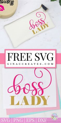free svg cut file boss lady, use on cricut and Silhouette machines Cricut Vinyl, Svg Files For Cricut, Cricut Fonts, Cricut Air, Cricut Craft, Silhouette Machine, Silhouette Files, Cricut Tutorials, Cricut Ideas