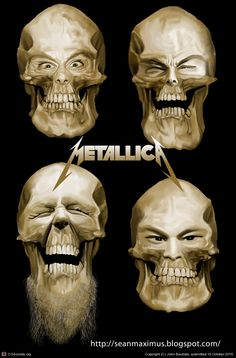 Metallica Skulls Caricature by John Bautista   2D   CGSociety