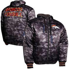 Denver Broncos Black Ops Puffer Full Zip Jacket - Black - $119.99