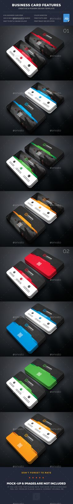 Business Card Templates PSD Bundle. Download here: https://graphicriver.net/item/business-card-bundle/17402627?ref=ksioks