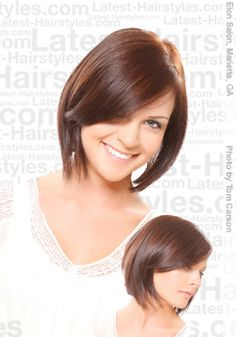 short a-line bob hairstyle