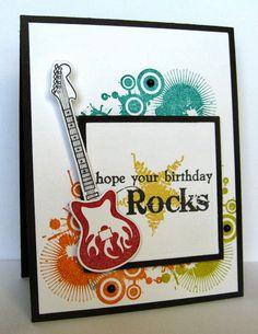 Cards by Kerri: Taylored Expressions November Sneak Peek: Wine & Dine, You're My Hero/Rock On Dies (Guitar Stamp? Cards Diy, Boy Cards, Kids Cards, Masculine Birthday Cards, Birthday Cards For Men, Masculine Cards, Male Birthday, Happy Birthday, Musical Cards