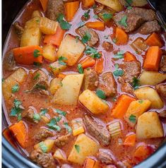 Slow Cooker Homemade Beef Stew is a great recipe for the winter months when you just want to curl up near the fireplace and eat a comforting hot dish that is satisfying. Slow Cooker Soup Vegetarian, Slow Cooker Beef, Slow Cooker Recipes, Crockpot Recipes, Soup Recipes, Dinner Recipes, Dinner Ideas, Homemade Beef Stew, Soups And Stews