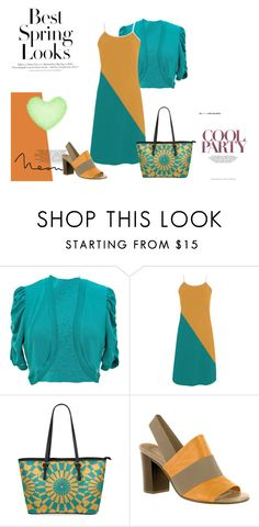 """Tangerine & Teal Spring"" by circus-valley ❤ liked on Polyvore featuring jon & anna, Bella Vita and H&M"