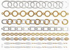 Metallic Temporary Gold Chain Feather Ship Anchor Tattoo Sticker
