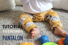 DIY Pantalones tipo legins para bebé (tutorial y patrones)