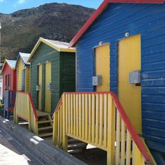 Colourful chalets on Muizenberg Beach, Cape Town #capetown #southafrica