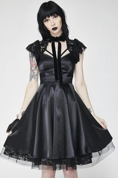 "hexlibrisofficial: ""Dear Darkness Doll Dress~ Embracing your dark side[x] Check It Here! IG: @hexlibrisofficial 