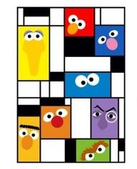 The Muppets: Mondrian Piet Mondrian, Mondrian Kunst, Middle School Art, Art Lessons Elementary, Art Abstrait, Art Graphique, Art Classroom, Teaching Art, Famous Artists