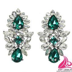 Fashion Earring Zinc Alloy with rhinestones US&EU standard 12 pairs Fashion Earrings, Rhinestones, Pairs, Turquoise, Drop Earrings, Jewelry, Self, Jewlery, Jewerly