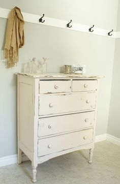 How to paint shabby chic furniture Want to do this to my bathroom cabinet!