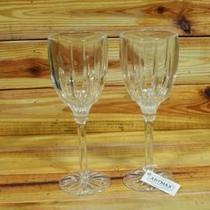 Set of 2 Crystal Wine Glasses by ArtMaxAntiques on Etsy
