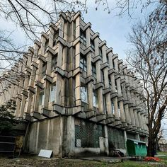 Library of the Romanian Academy, (formerly Biblioteca Academiei R.S.R) Cluj-Napoca, Romania, built in 1976, Architects Eliza Fierlinger
