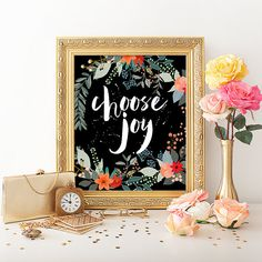 Choose Joy Print - Download from PaperCanoePrintables on Etsy