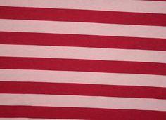 1 yard Knit pink/fuschia stripes 1 wide by EuroGirlsBoutique