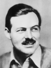 Author Ernest Hemingway in 1933.