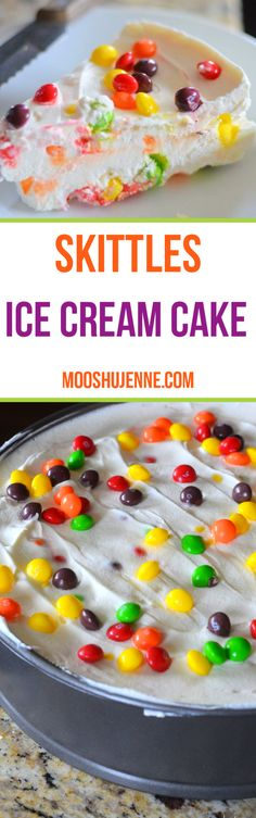 Made from skittles, heavy whipping cream, and sweeten condensed milk.