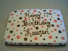 Buttercream polka dot sheet cake