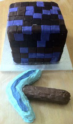 Minecraft Obsidian Block Cake