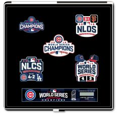 Chicago Cubs 2016 World Series Champions Pin Set