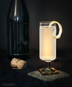 A spring forward guide to cruise cocktails with three tasty cocktail recipes, like the French 75 (pictured here).