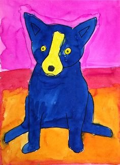 George Rodrigue (1944 – 2013) is best known for his Blue Dog paintings, which catapulted him to worldwide fame in the early 1990s. I love that he painted his beloved dog in so many colors, which encourages students to be creative with their coloring as well. • View and download Blue Dog PDF Tutorial   … Read More